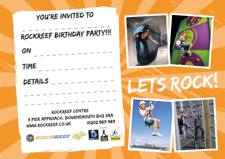 RockReef Birthday Party Invite