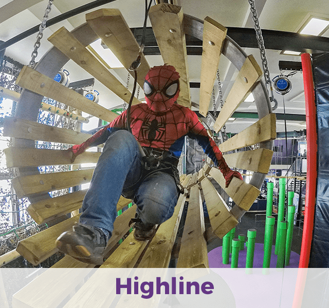 Indoor high-line course in Bournemouth