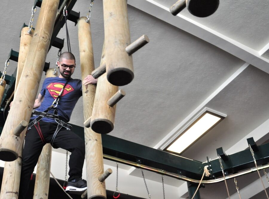 Indoor high ropes course in Bournemouth
