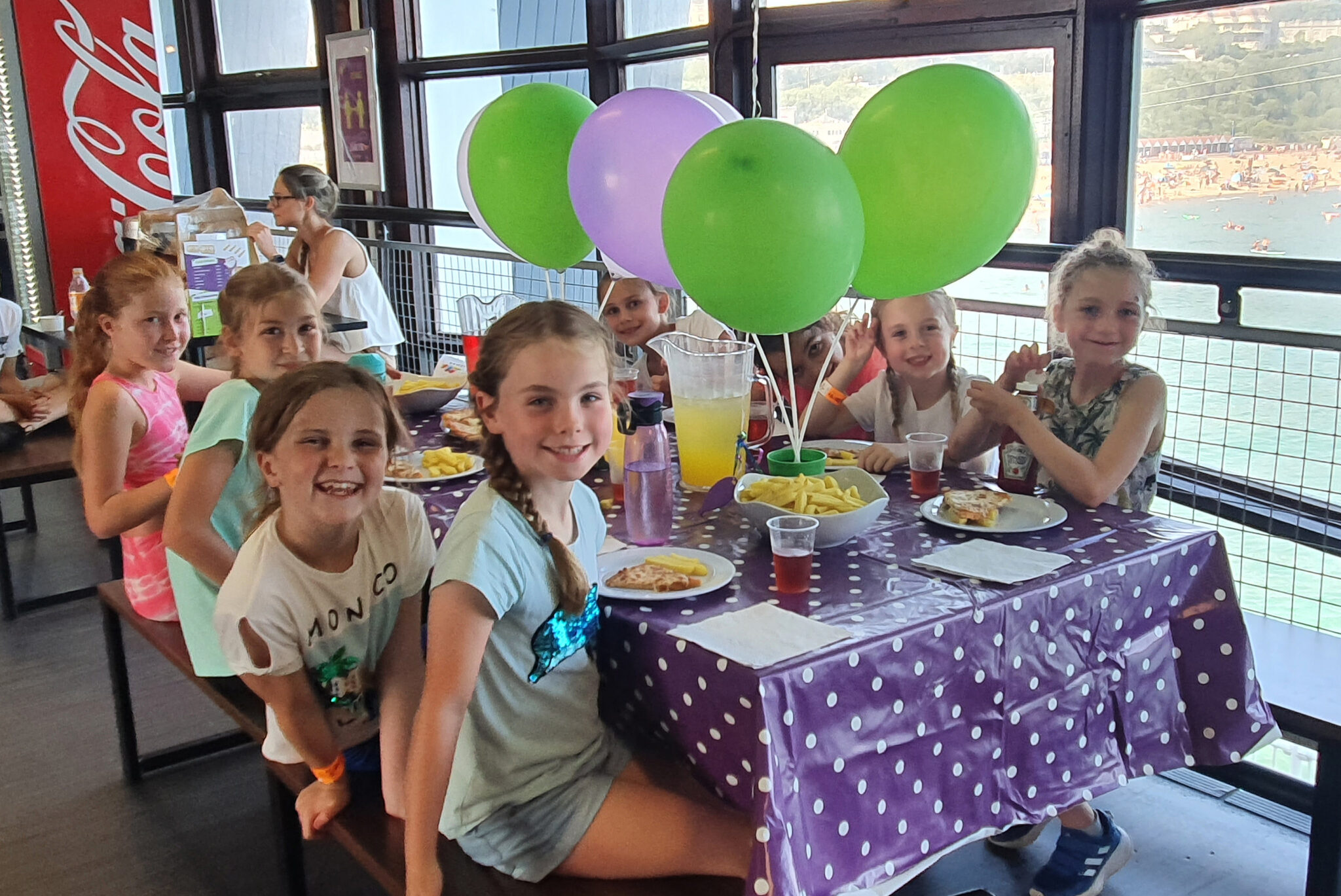 Girls Birthday Party in RockReef Cafe with Food & Balloons