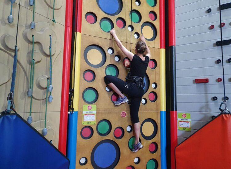 Aduts only Night - Woman on Climbing Walls